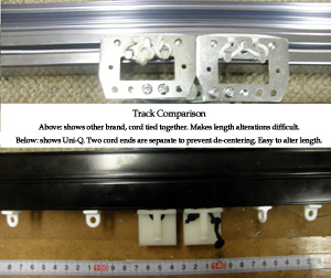 Easy to Alter Cord Length - Track Comparison