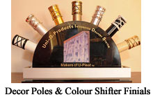 Uni-Q Decor Poles & Colour Shifter Finials